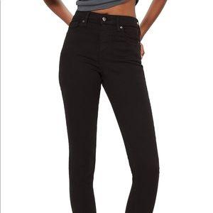 Topshop Moto Jamie High Waist Black Jeans